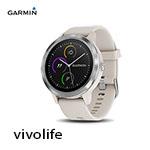 GARMIN vivolife 象牙白 悠遊智慧腕錶 010-01769-D1