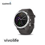 GARMIN vivolife 石磨灰 悠遊智慧腕錶 010-01769-D0