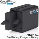 GoPro AHBBP-401 Dual Battery Charger + Battery 雙電池座充+電池 適用HERO4(總代理公司貨)
