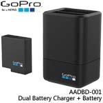 GoPro AADBD-001 Dual Battery Charger + Battery 雙電池充電器+電池 適用HERO5/6/7 (總代理公司貨)
